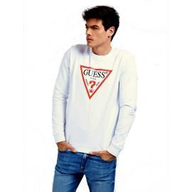 Sweat GUESS homme M0YQ37 blanc