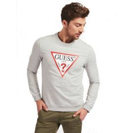 Sweat GUESS homme M0BQ37K7ON1 gris