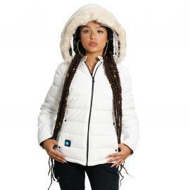 Blouson chauffant femme blanche BUDAPEST CDL Comme Des Loups