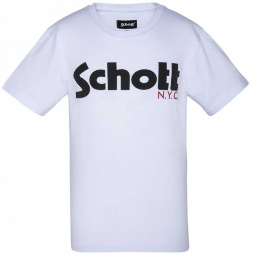 Tee-shirt junior SCHOTT TSIDOLICB blanc