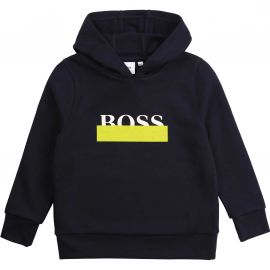 Sweat Hugo Boss bleu marine à capuche J25G65