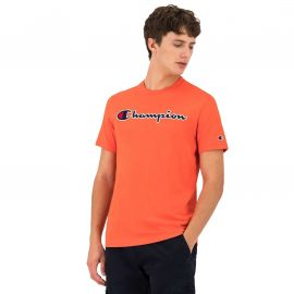 Tee shirt champion homme orange 214726