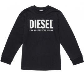 Tee shirt Diesel noir enfant manche longue 00J4Y0