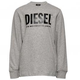 Tee shirt Diesel gris enfant manche longue 00J4Y0