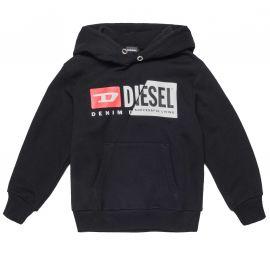 Sweat à capuche Diesel noir 00J4Z3