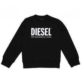 Sweat Diesel col rond enfant noir 00J4PQ