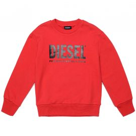 Sweat Diesel col rond enfant rouge 00J4PQ