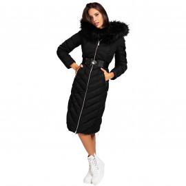 Veste longue Guess femme WOBL93 noir