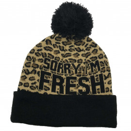 Bonnet leopard SORRY I'M FRESH