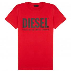 Tee shirt Diesel noir junior 00J4P6 rouge