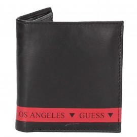 Portefeuille guess noir et rouge SMMITCLEA22