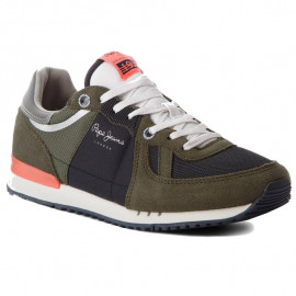 Chaussure homme PEPE JEANS PMS30415 TINDER KAKI