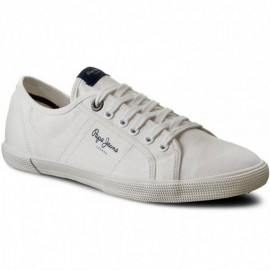 Chaussure homme PEPE JEANS PMS30352 ABERMAN blanc