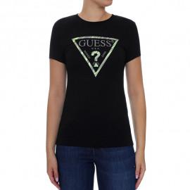 Tee-shirt femme GUESS WOYI98 noir