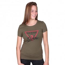 Tee-shirt femme GUESS W74L67 KAKI