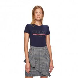 Tee-shirt femme GUESS W94L20 bleu
