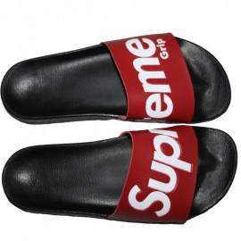 Claquette homme SUPREME GRIP noir et rouge 5002-SLP