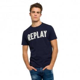 Tee shirt REPLAY M3478 bleu éléctrique