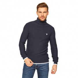Pull col roulé Guess homme bleu marine MOBR56