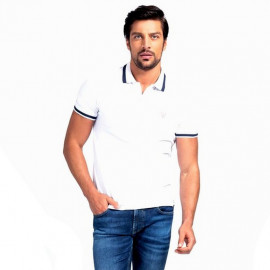 Polo homme GUESS MOBP60 BLANC