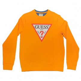 Sweat homme GUESS MOBQ37 orange