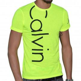 Tee shirt Calvin klein jaune fluo CMP13S