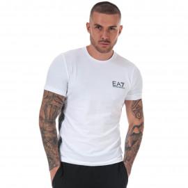 Tee shirt Armani blanc à bande noir 3HPT07