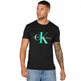 Tee shirt CK noir et turquoise J30J317