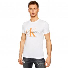 Tee shirt CK blanc et orange J30J317
