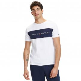 Tee shirt tommy blanc à bande 1170