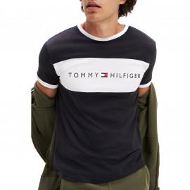 Tee shirt tommy noir à bande 1170