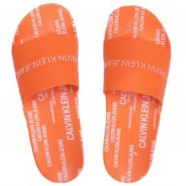 Claquette Orange Calvin Klein M0074
