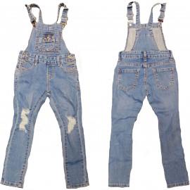Salopette en jean enfant bleu Z001