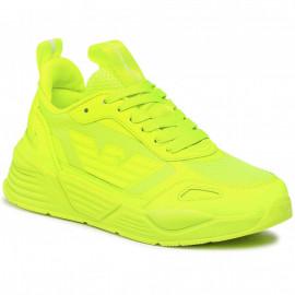 Basket Armani EA7 jaune fluo X8X070 XK165 N345