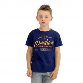 Deeluxe - Tee shirt à texte - Write - Bleu Nuit - Junior