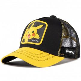 Casquette Pikachu noir et jaune CL/PKM2/3/PIK6