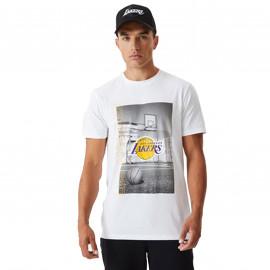 Tee shirt Los angeles rétro blanc 12590893
