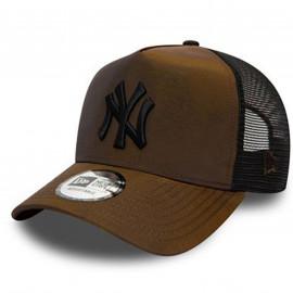 Casquette trucker Yankees marron satin 60141783