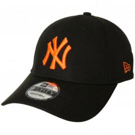 Casquette yankees noir et orange 60141524 recyclé