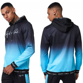 Sweat à capuche Dégradé bleu et noir Project X paris 2120108