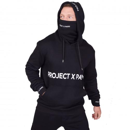 Sweat Project X homme et femme avec Masque intégré noir 2120127
