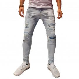 jean Skinny homme bleu clair BN-3039