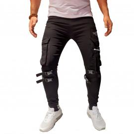 Pantalon Cargo noir en cotton 3015