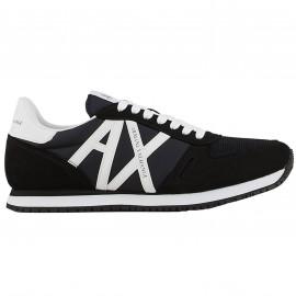 Basket Armani exchange noir et blanche XUX017 XCC68 K489