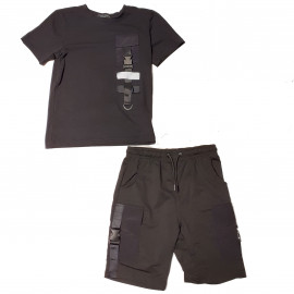 ensemble junior short et Tee shirt BL-62 NOIR
