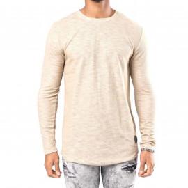 Tee shirt manche longue beige Project X paris 88162252 IV