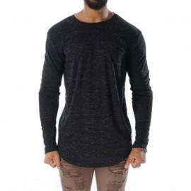 Tee shirt manche longue chiné noir Project X paris 88162235