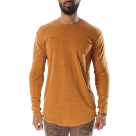 code Tee shirt manche longue chiné camel Project X paris 88162235