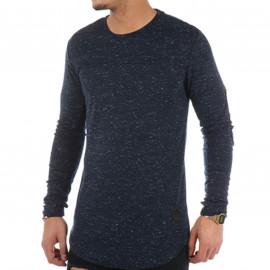 Tee shirt manche longue chiné bleu Project X paris 88162235