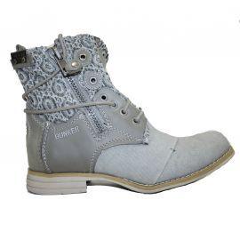 Boots femme BUNKER grises ZIP CAR26
